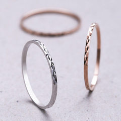 S925 pure silver ring temperament simple joint lin silver No. 5