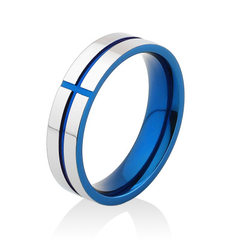 Men European and American fashion hand ornaments r Blue (face width 4mm) No. 5