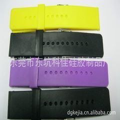Silica gel watch silicone watch with flat LED sili white