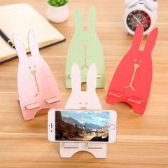 创意手机座促销礼品赠品 可爱卡通越兔子木质手机支架手机架现货 绿色兔子