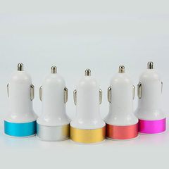Manufacturers direct selling circular dual USB car Pink round car charger