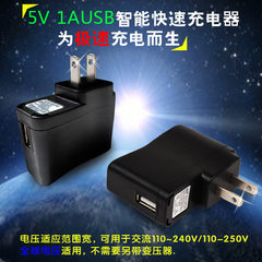 Hot style mobile phone charger USB charger 5V 1A r black