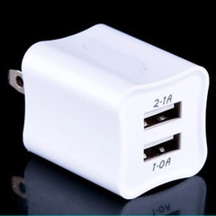 Green-point dual USB charger xiaomi 2.1a dual-head The original square shape is black