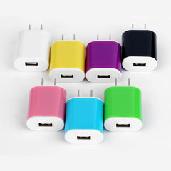 5V1A universal USB charger omelet color dual color White - omelet charger