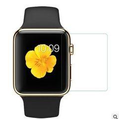手表38mm钢化膜 高清保护贴膜 FOR苹果Apple 42mm智能手表膜 裸片