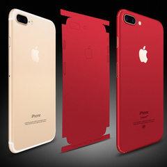 苹果7/8红色背膜冰膜苹果iphone8plus中国红后膜全包彩膜后盖贴膜 红色 苹果7/8(裸片)
