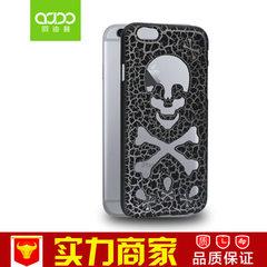 创意款iPhone6/6s/plus骷髅机壳 学生款苹果6骷髅机壳 厂家直销 黑色 iPhone6