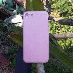 iPhone6手机壳苹果7Plus手机套实色马卡龙色清爽TPU软壳 素材壳 粉色 iPhone6/6s