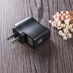 厂家直销USB充电器 手机电池充电器充电头 快速直插USB充电器配件 黑色