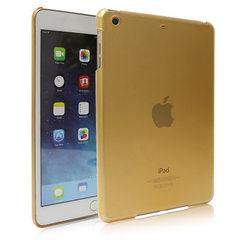 苹果ipad mini3/4多色防摔透明平板喷油素材PC单底皮套保护壳厂家 透明 ipad mini3