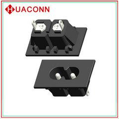 AC插座 电源插座 器具输入插座 2.5A/6A/8A 八字插座 C8 安规认证