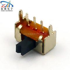 厂家直销全自动检测拨动开关SK12D01两档侧拨单刀SK12D07卧式批发