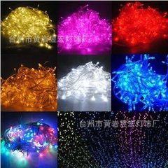 LED彩灯灯串 LED亮化满天星灯串 圣诞灯装饰灯10米100灯带尾插 黄色