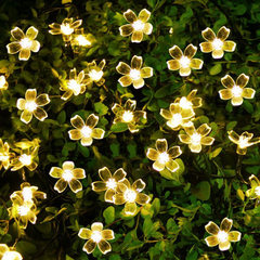 Hot selling led lights with peach blossom sakura b yellow