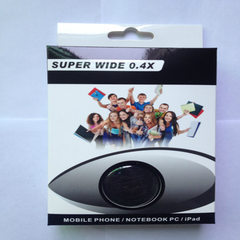 0.4X super wide Angle fisheye lens mobile phone le Black, silver, red