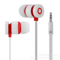 厂家直销魔音面条线耳机 入耳式重低音耳机适用华为三星线控耳机 白色