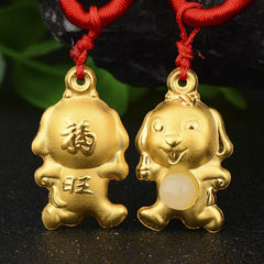 The new fuwang gold inlay and tianyu pendant neckl Single pendant