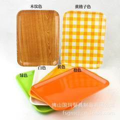 Melamine tableware rectangular plate plastic tray  yellow 8020 * 20 cm (27)