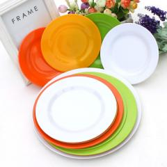 Colorful plastic plate round plate melamine dishes Yellow slants thin 8 & amp; Throughout; (20 cm in diameter),