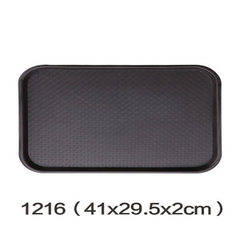 Tray rectangular fast food dining anti - slippery  1216 brown -