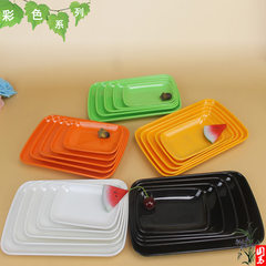 KTV fast food imitation porcelain miamine barbecue green 5.5 long powder dish (13.3cm long * 9cm wide)