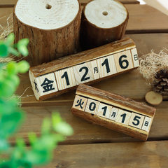 Hot selling wood crafts students countdown setting The trumpet calendar
