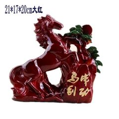 Rosewood color retro style to success pen creative Horse * bright red Brush pot