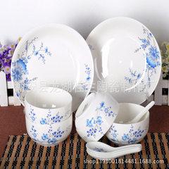 桂兰陶瓷厂家直销 10头陶瓷餐具 陶瓷碗勺套装 餐具套装 混批 优雅贵族 10头 4碗4勺2盘
