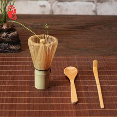 新茗手工竹制日本茶具茶筅三件套抹茶点茶用具打抹茶器茶道零配 茶筅3件套