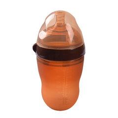 Manufacturer OEM nano silver silicone milk bottle  150ML nano silver milk bottle without handle straw