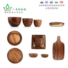 Acacia dinnerware whole wood digs make gift custom YF - the D25 disk 15 cm