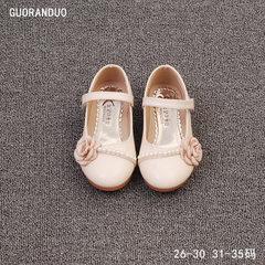 2018 new children`s shoes pearl princess shoes flo beige 26