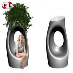 Nordic style fiberglass landing large flowerpot tr 35 * 60 Ф