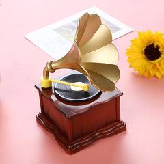 Creative classical crystal two phonograph flash mu K0521 crystal phonograph music box