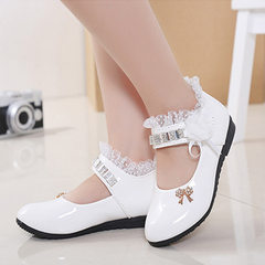 Girls` shoes wholesale 2018 spring and autumn new  white 37