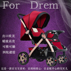Baby strollers can be seated in both directions on purple