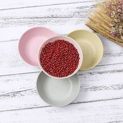 Hot selling creative wheat straw round tableware b The Nordic green
