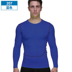 Fitness suit men`s sports tights autumn and winter 207 blue L (130-145 kg)