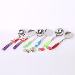 Factory direct sale shun liang stainless steel spa Purple spoon handle