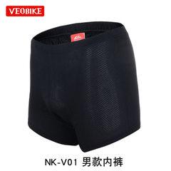 VEOBIKE bike riding underwear silicone seat bike r Men`s underwear is black s