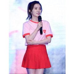 新款学生运动会拉拉队服团体演出服啦啦操服装女款表演服 红色 XXS