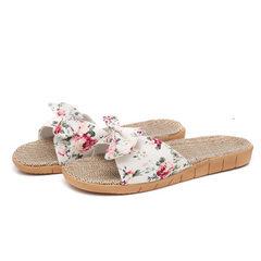 Flax slippers ladies summer indoor and outdoor hom beige 35/36