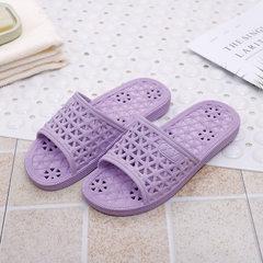 2018新款凉拖鞋 男女浴室拖鞋 防滑软底凉拖 夏季居家漏水拖鞋 紫色 32-33