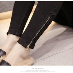 2018 new large size spring suit extra size legging black Large size XL