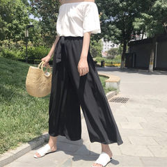 2018 spring and summer women`s trousers new fashio black All code