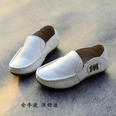 Bairan children`s shoes boy genuine leather top la white 21