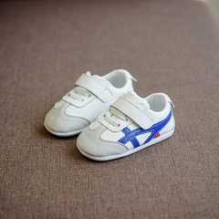 Spring 2018 new children`s shoes hot selling real  Single blue shoes 14