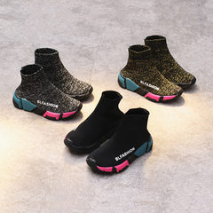Spring 2018 new style children`s shoes Korean vers black 26-30 yards / 5 pairs per hand