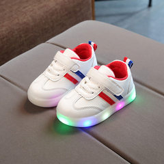 Spring and autumn 2018 new children`s shoes LED li red 21
