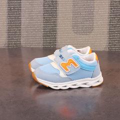 2018儿童带灯童鞋女童跑步鞋男童网布透气鞋春款潮流鞋一件代发 A-1B-1M月兰 22内长13.5cm